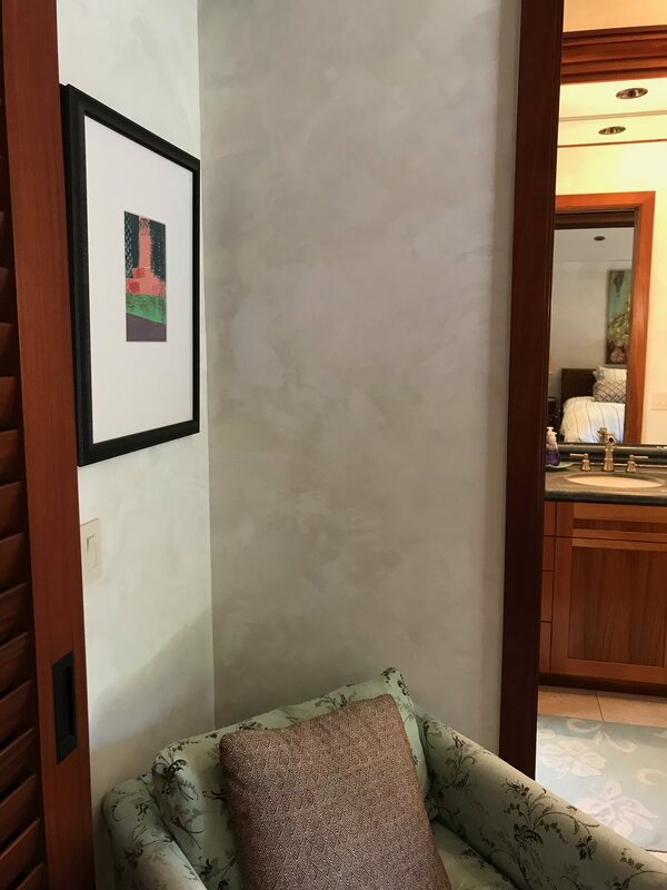 Venetian Plaster wall finish by Thompson Art Studios, Hawaii.
